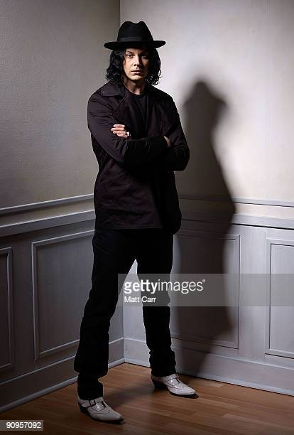Musician Jack White from the film 'White Stripes Under the Great White Northern Lights' poses for a portrait during the 2009 Toronto International...