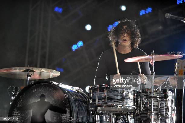 Musician Jack White of The Dead Weather performs during Day 2 of the Coachella Valley Music Art Festival 2010 held at the Empire Polo Club on April...