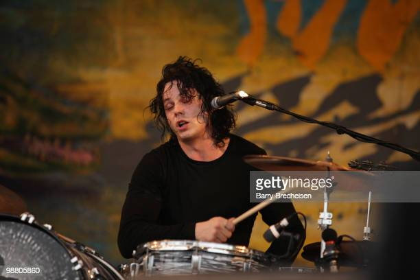 Musician Jack White of the Dead Weather performs during day 7 of the 41st annual New Orleans Jazz Heritage Festival at the Fair Grounds Race Course...