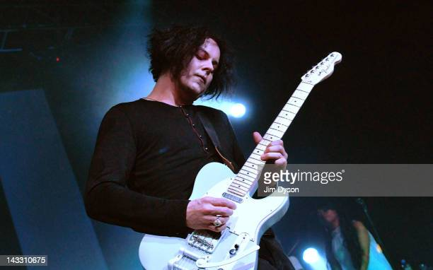 Musician Jack White performs live on stage during a oneoff solo concert in support of his debut solo album 'Blunderbuss' at the Kentish Town Forum on...