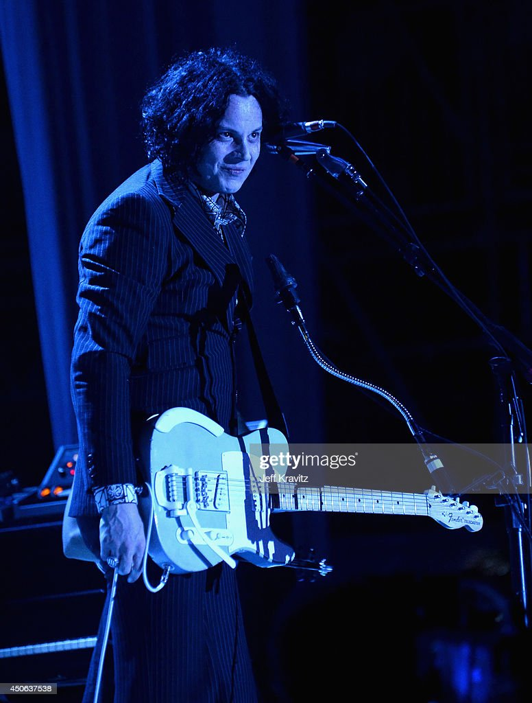 Musician Jack White performs onstage at What Stage during day 3 of the 2014 Bonnaroo Arts And Music Festival on June 14, 2014 in Manchester, Tennessee.