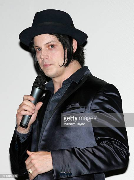 Musician Jack White speaks at the premiere of It Might Get Loud during the 2008 Toronto International Film Festival held at Ryerson Theatre on...