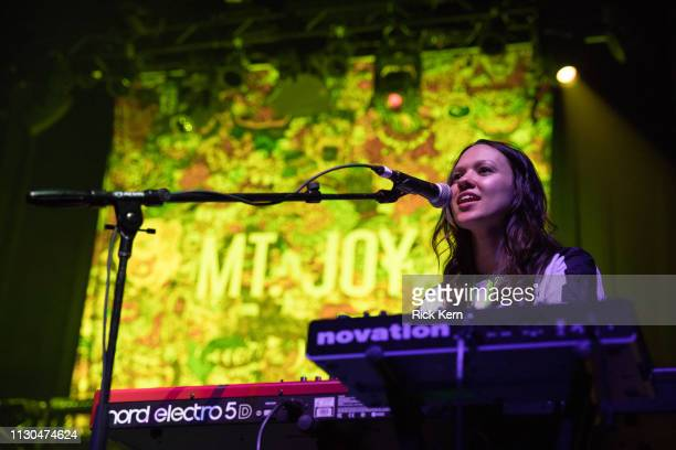 Musician Jackie Miclau of Mt Joy performs in concert at ACL Live on February 17 2019 in Austin Texas