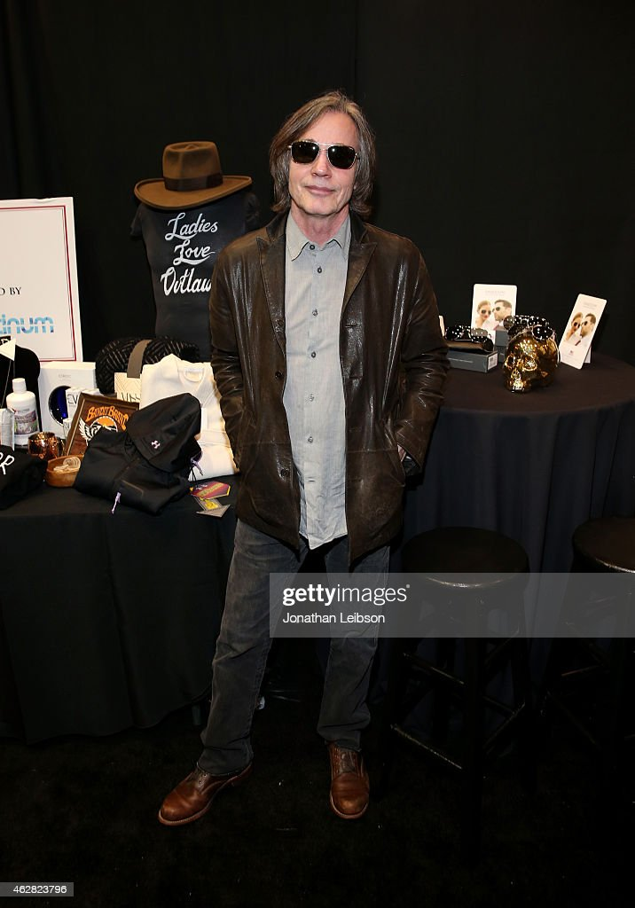 Musician Jackson Browne attends the MusiCares Double Platinum Talent Gift Lounge with Altec Lansing, RTA Denim, JB Britches and Infinite Love at MusiCares Person of the Year during The 57th Annual GRAMMY Awards at the Los Angeles Convention Center on February 5, 2015 in Los Angeles, California.