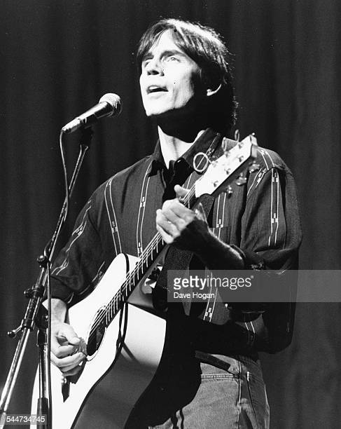 Musician Jackson Browne performing on stage at the Secret Policeman's Ball in aid of Amnesty International at London Palladium March 29th 1987