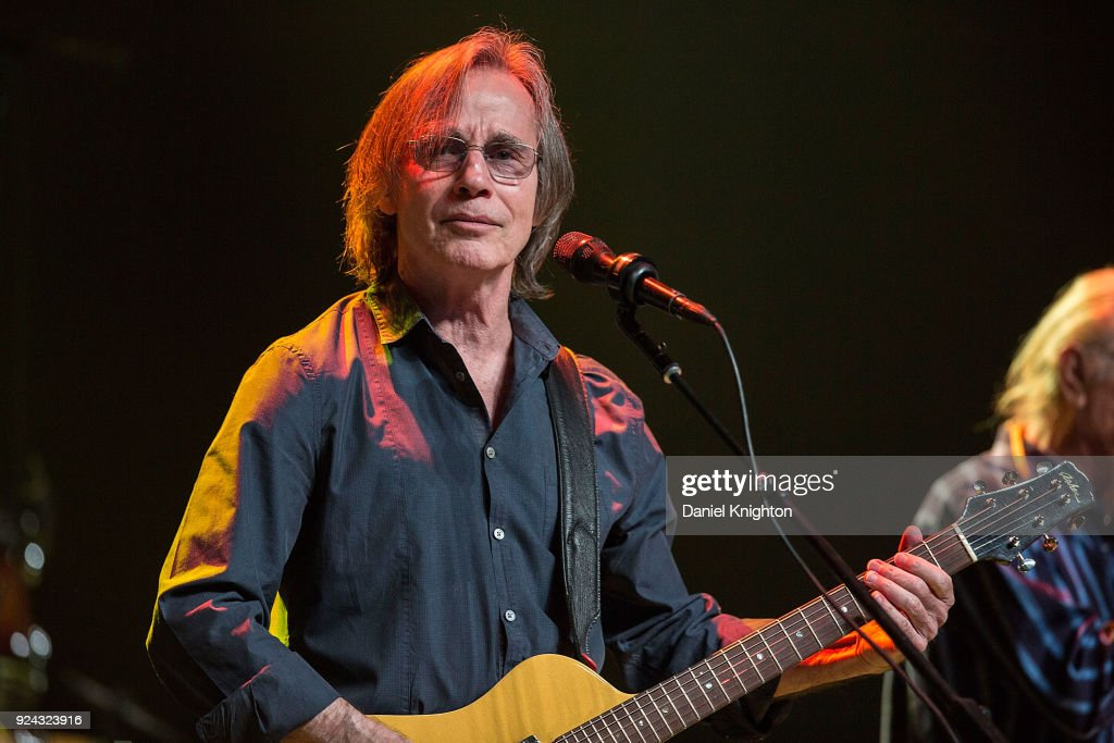 Musician Jackson Browne performs on stage at Pechanga Casino on February 25, 2018 in Temecula, California.