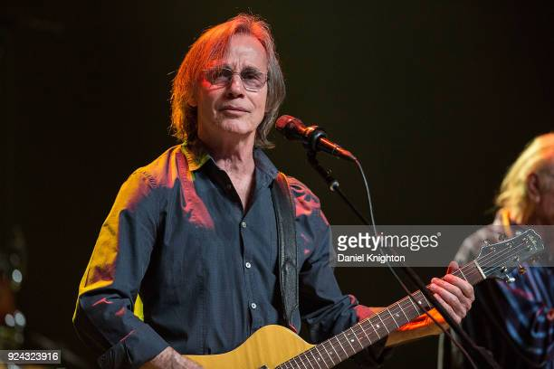 Musician Jackson Browne performs on stage at Pechanga Casino on February 25 2018 in Temecula California