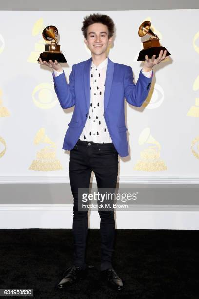 Musician Jacob Collier winner of Best Arrangement Instrumental or A Cappella for 'You and I' and Best Arrangement Instruments and Vocals for...