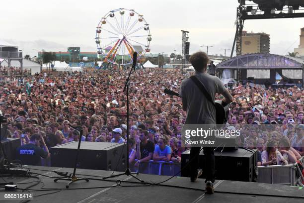 Musician Jacob Tilley of the band Young the Giant performs at the Hangout Stage during 2017 Hangout Music Festival on May 21 2017 in Gulf Shores...