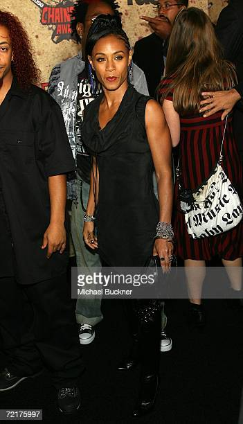 Musician Jada Pinkett Smith attends the fuse Fangoria Chainsaw Awards at the Orpheum Theater on October 15 2006 in Los Angeles California The awards...