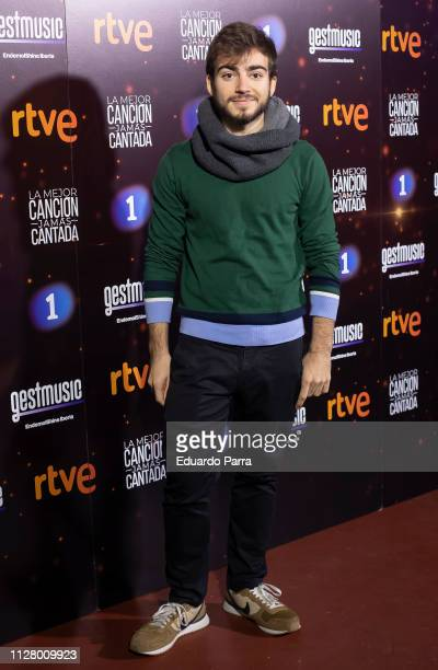 Musician Jaime Altozano attends the La mejor cancion jamas contada photocall at El Sol disco on February 07 2019 in Madrid Spain