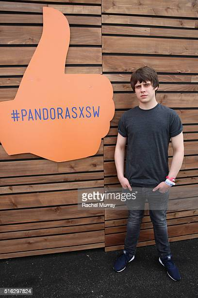 Musician Jake Bugg poses backstage during the PANDORA Discovery Den SXSW on March 17 2016 in Austin Texas