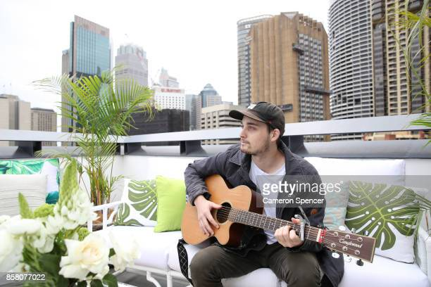 Musician Jake Howden performs at the launch of Aussie News Today as part of Tourism Australia's new youth campaign on October 6 2017 in Sydney...