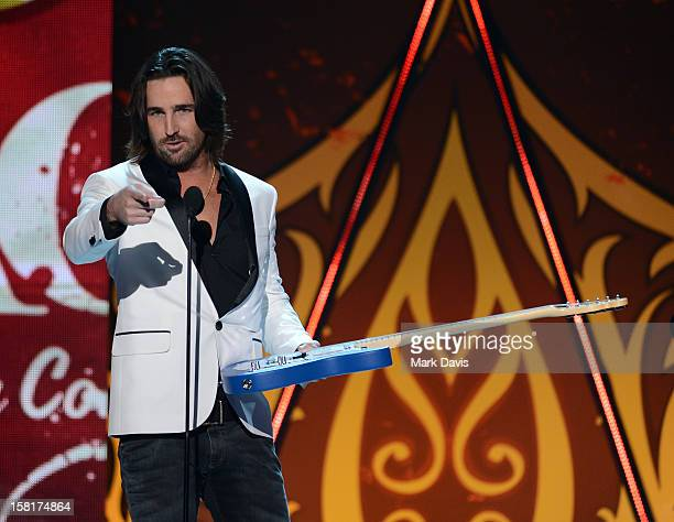 Musician Jake Owen accepts the Breakthrough Artist of the Year award onstage during the 2012 American Country Awards at the Mandalay Bay Events...