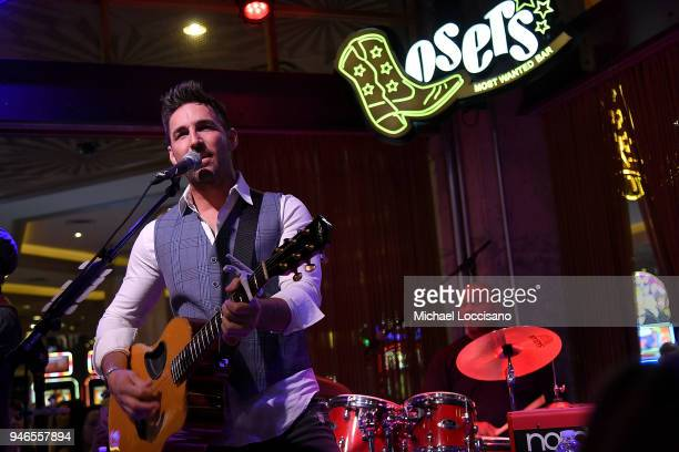Musician Jake Owen performs during Big Loud at Losers Bar in the MGM Grand hotel on April 14 2018 in Las Vegas Nevada