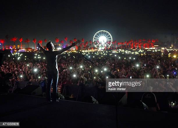Musician Jake Owen performs onstage during day one of 2015 Stagecoach California's Country Music Festival at The Empire Polo Club on April 24 2015 in...