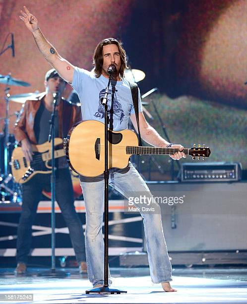 Musician Jake Owen performs onstage during the 2012 American Country Awards at the Mandalay Bay Events Center on December 10 2012 in Las Vegas Nevada