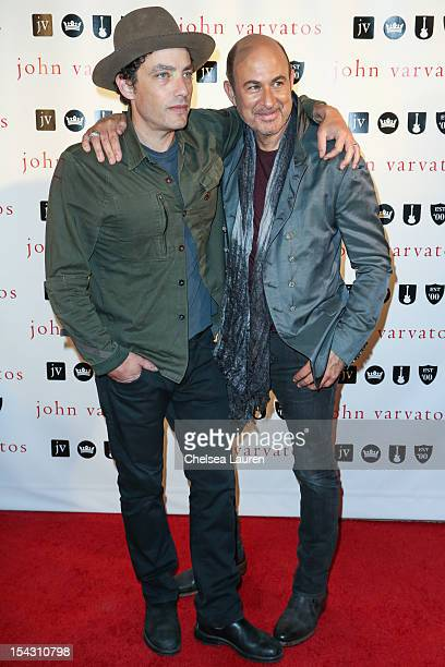Musician Jakob Dylan and designer John Varvatos attend the John Varvatos West Hollywood 10 year anniversary celebration featuring Paul Weller at John...