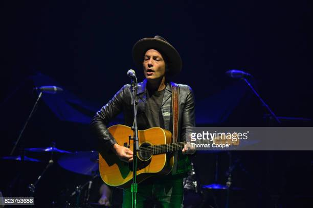 Musician Jakob Dylan of The Wall Flowers performs at the Paramount Theatre on July 27 2017 in Denver Colorado