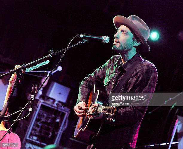 Musician Jakob Dylan performs at Rachel Fuller's In The Attic presented by Best Buy at the Troubador on November 7 2008 in West Hollywood California