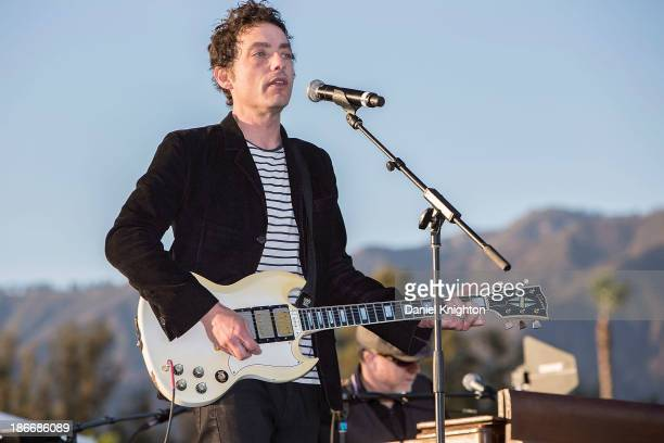 Musician Jakob Dylan performs onstage at the 30th Annual Breeder's Cup Songs in the Saddle concert at Santa Anita Park Racetrack on November 2 2013...