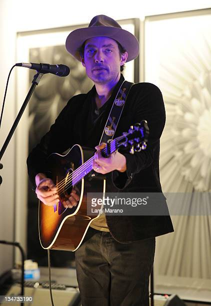 Musician Jakob Dylan performs onstage at the Fisker Automotive Celebration Of Karma party and concert hosted by AD Oasis at The Raleigh on December 3...