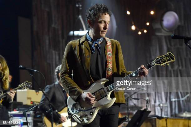Musician Jakob Dylan performs onstage during MusiCares Person of the Year honoring Tom Petty at the Los Angeles Convention Center on February 10 2017...