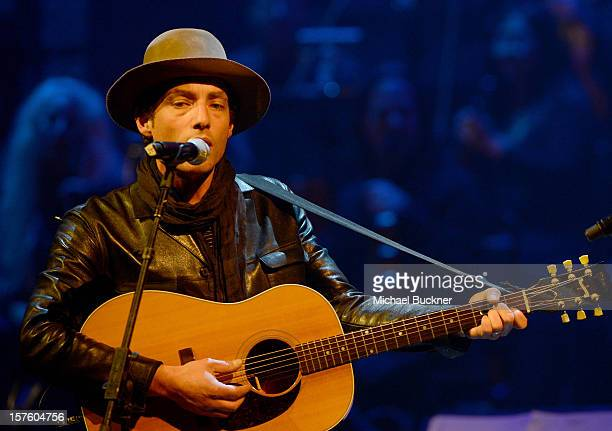 Musician Jakob Dylan performs osntage during a celebration of Carole King and her music to benefit Paul Newman's The Painted Turtle Camp at the Dolby...