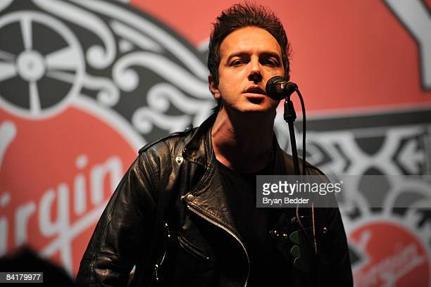 Musician James Allan of the band Glasvegas performs onstage at Virgin Megastore Union Square on January 5 2009 in New York City