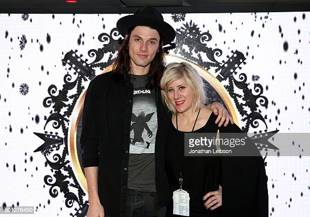 Musician James Bay and radio personality Kat Corbett attend 1067 KROQ Almost Acoustic Christmas 2015 at The Forum on December 13 2015 in Los Angeles...