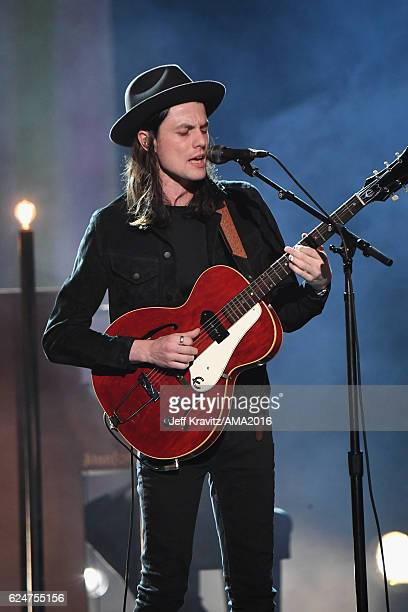 Musician James Bay performs onstage at the 2016 American Music Awards at Microsoft Theater on November 20, 2016 in Los Angeles, California.