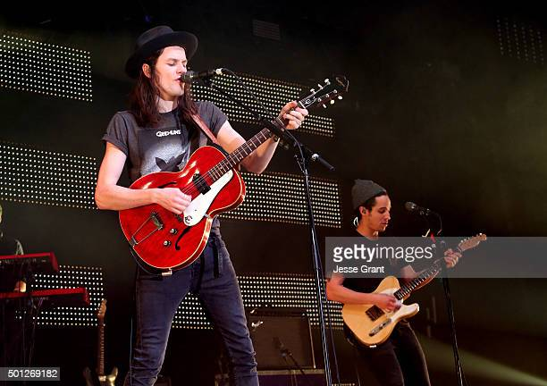 Musician James Bay performs onstage during 1067 KROQ Almost Acoustic Christmas 2015 at The Forum on December 13 2015 in Los Angeles California