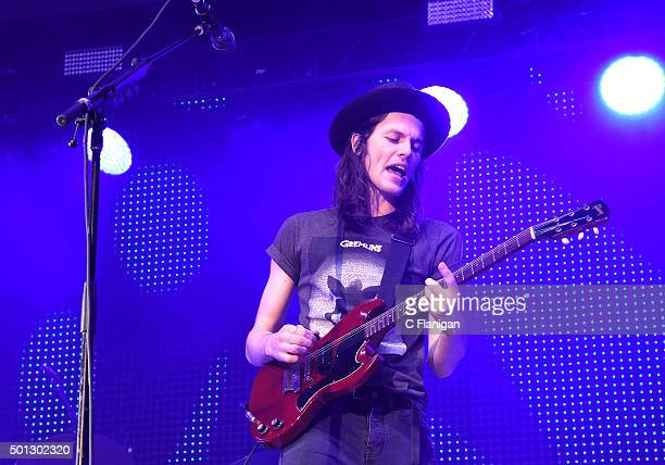 Musician James Bay performs onstage during 1067 KROQ Almost Acoustic Christmas 2015 at The Forum on December 13 2015 in Inglewood California