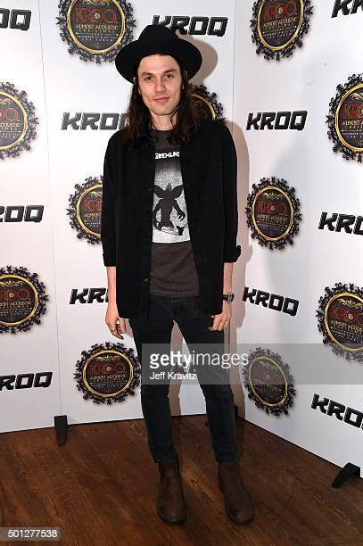 Musician James Bay poses backstage during 1067 KROQ Almost Acoustic Christmas 2015 at The Forum on December 13 2015 in Inglewood California