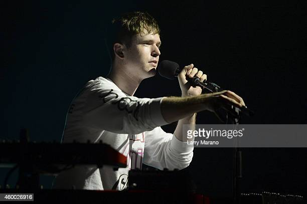 Musician James Blake performs onstage during the YoungArts And III Points Concert Series on the YoungArts Campus December 5 2014 in Miami Florida