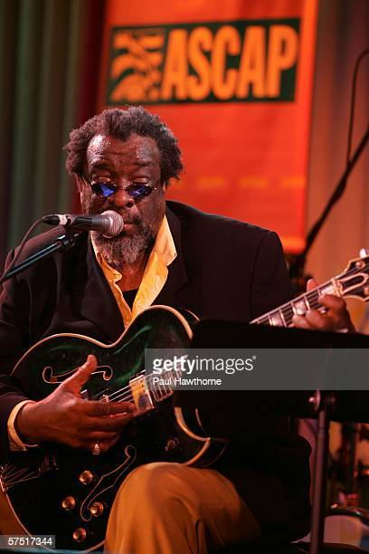 Musician James Blood Ulmer performs at the Tribeca/ASCAP Music Lounge at Canal Room during the 5th Annual Tribeca Film Festival May 2 2006 in New...