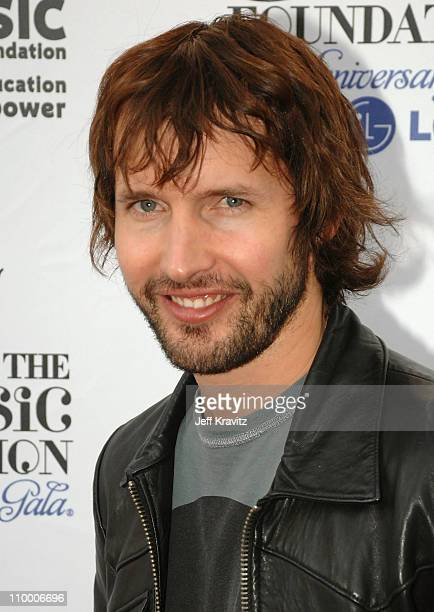 Musician James Blunt arrives at VH1's Save The Music 10th Anniversary Gala at The Tent at Lincoln Center on September 20 2007 in New York City