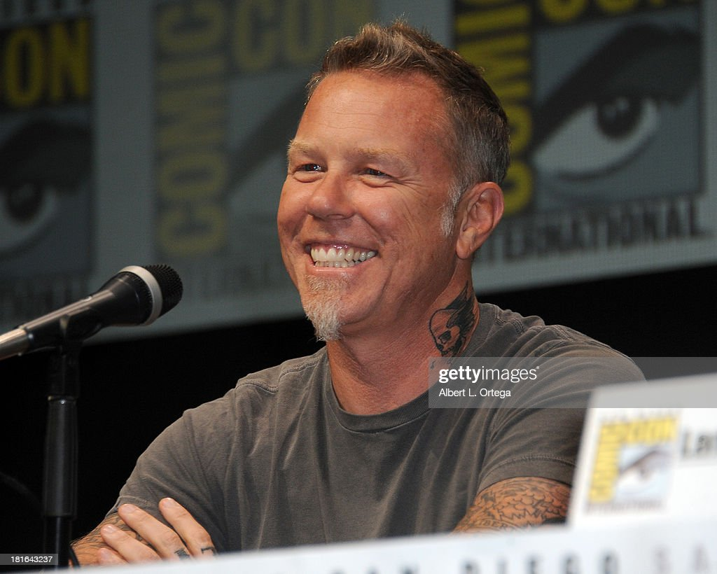 Musician James Hetfield attends At The Drive-In With Metallica's 'Through The Never' as part of Comic-Con International 2013 held at San Diego Convention Center on Friday July 19, 2012 in San Diego, California.