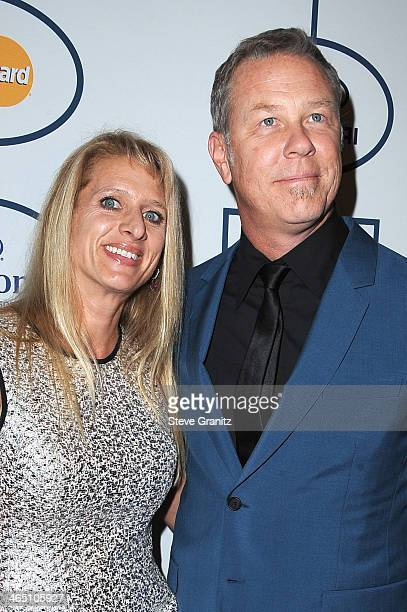 Musician James Hetfield of Metallica and Francesca Hetfield attend the 56th annual GRAMMY Awards PreGRAMMY Gala and Salute to Industry Icons honoring...
