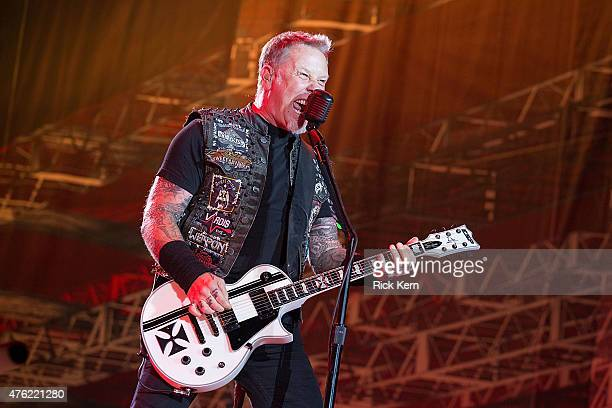 Musician James Hetfield of Metallica performs in concert during X Games Austin at Circuit of The Americas on June 6, 2015 in Austin, Texas.