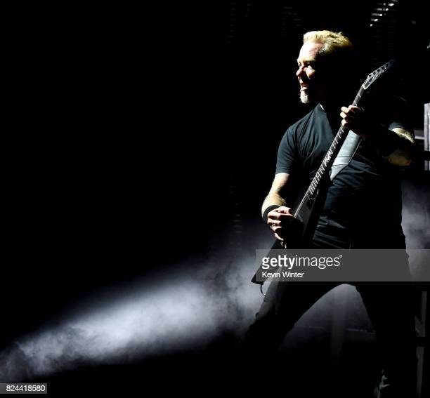 Musician James Hetfield of Metallica performs onstage at the Rose Bowl on July 29 2017 in Pasadena California