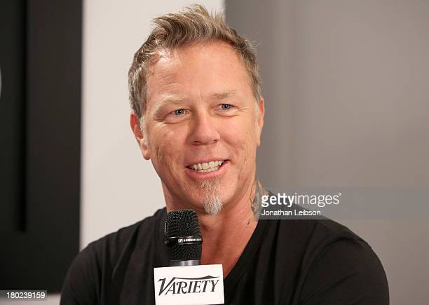 Musician James Hetfield speaks at the Variety Studio presented by Moroccanoil at Holt Renfrew during the 2013 Toronto International Film Festivalon...
