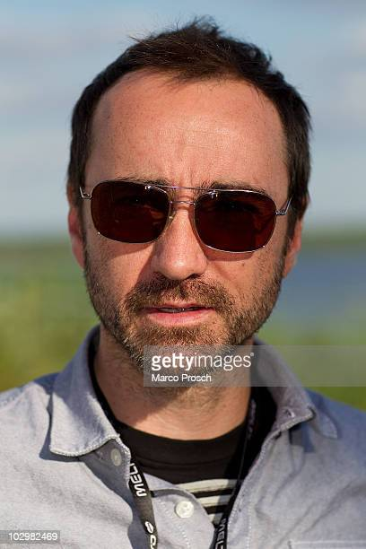 ACCESS*** Musician James Mercer of indierock band Broken Bells poses backstage at the Melt festival in Ferropolis on July 18 2010 in Graefenhainichen...