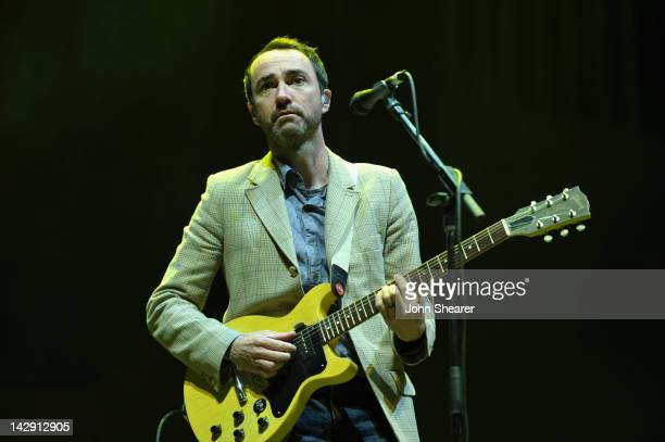 Musician James Mercer of The Shins performs during Day 2 of the 2012 Coachella Valley Music Arts Festival held at the Empire Polo Club on April 14...