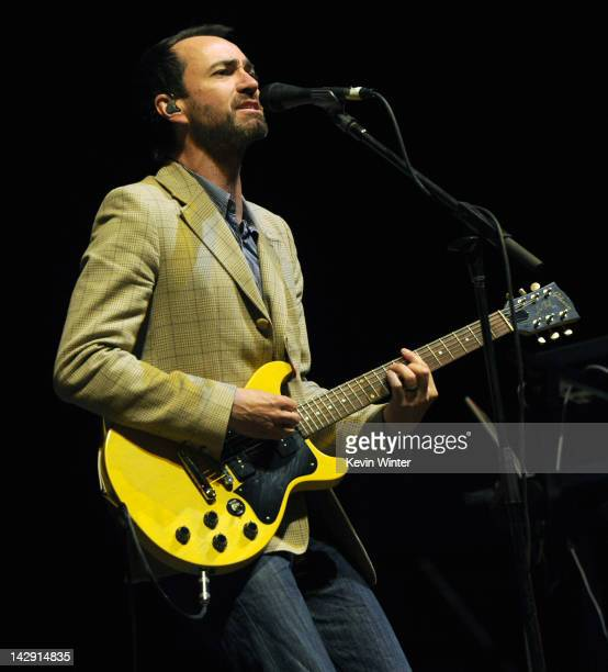 Musician James Mercer of The Shins performs onstage during day 2 of the 2012 Coachella Valley Music Arts Festival at the Empire Polo Field on April...