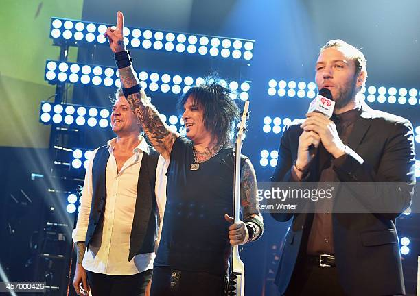 Musician James Michael Nikki Sixx of Sixx AM and host Trey Morgan perform for iHeartRadio Live at The iHeartRadio Theater Los Angeles on October 7...