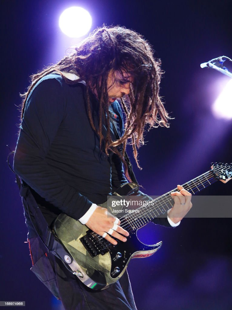 "Musician James ""Munky"" Shaffer of Korn performs during 2013 Rock On The Range at Columbus Crew Stadium on May 17, 2013 in Columbus, Ohio."