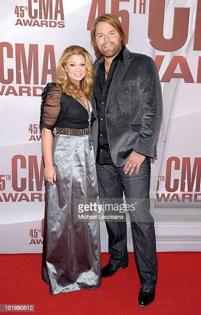 Musician James Otto and Amy Otto attend the 45th annual CMA Awards at the Bridgestone Arena on November 9 2011 in Nashville Tennessee