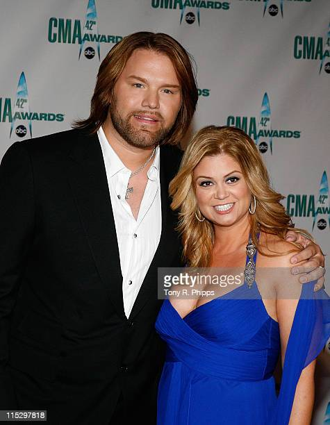Musician James Otto and guest attend the 42nd Annual CMA Awards at the Sommet Center on November 12 2008 in Nashville Tennessee