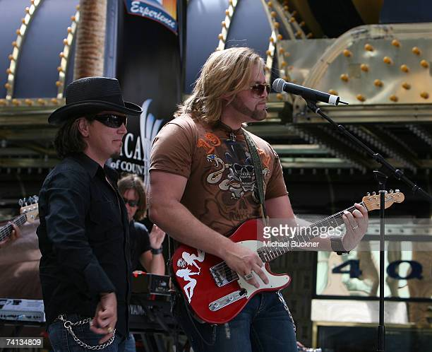 Musician James Otto and his band perform onstage during day one of the Academy of Country Music All Star Concert at the Fremont Street Experience May...